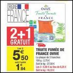 Bon Plan Ovive : 3 Paquets de Truite Fumée à 2,20€ chez Carrefour Market - anti-crise.fr