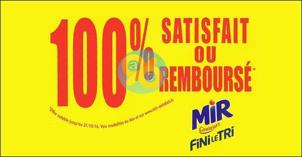 Offre de Remboursement Mir Fini Le Tri : Votre Produit Remboursé partiellement ou 100% - anti-crise.fr
