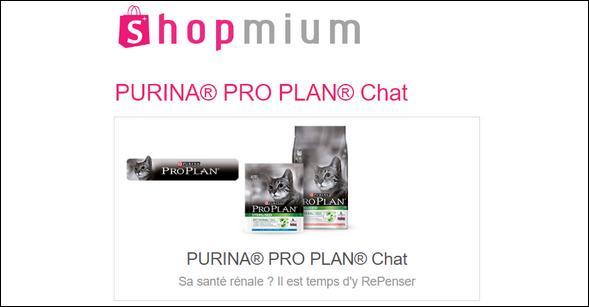 Offre de Remboursement Shopmium : 2 Offres Purina® Pro PlanN® Chat - anti-crise.fr
