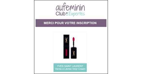 Test de Produit Au Féminin : Vernis à Lèvres Vinyl Cream Yves Saint Laurent - anti-crise.fr