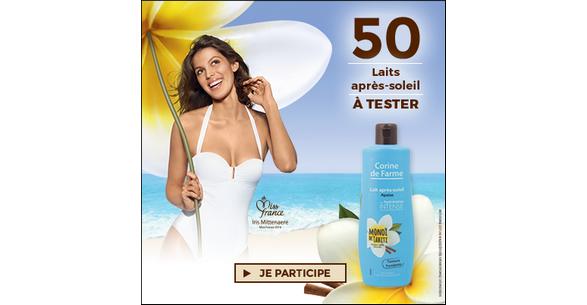 Test de Produit Beauté Test : Lait Après-Soleil Apaisant au Monoï de Tahiti de Corine de Farme - anti-crise.fr