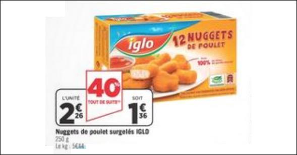 Bon Plan Nuggets de Poulet Iglo chez Géant Casino - anti-crise.fr