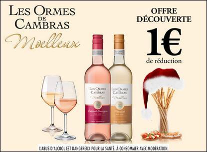 Bon de Réduction Les Ormes de Cambras : 1€ de réduction sur la bouteille de Moelleux - anti-crise.fr
