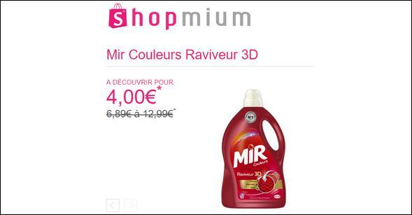 Offre de Remboursement Shopmium : Mir Couleurs Raviveur 3D à découvrir pour 4€ - anti-crise.fr