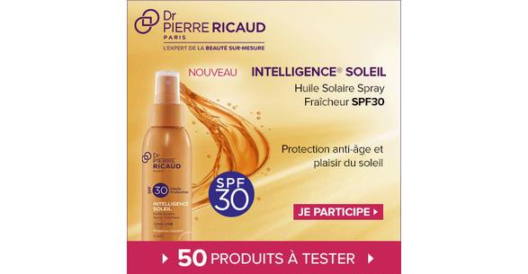 Test de Produit Beauté Test : Huile Solaire Spray Fraîcheur SPF 30 - Intelligence Soleil de Dr Pierre Ricaud - anti-crise.fr