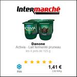 Bon Plan Danone : 4 Yaourts au Pruneau Activia à 0,21€ chez Intermarché - anti-crise.fr