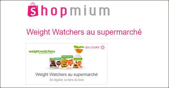 Offre de Remboursement Shopmium : Jusqu'à 50% sur les Produits Weight Watchers - anti-crise.fr