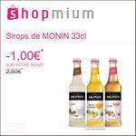 Offre de Remboursement Shopmium : 1€ sur les Sirops de Monin 33cl - anti-crise.fr