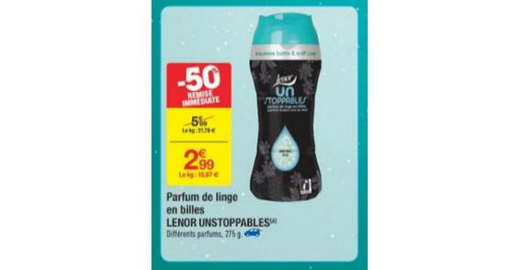 Bon Plan Lenor Unstoppables chez Carrefour - anti-crise.fr