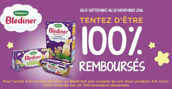 Offre de Remboursement Blédina : 1 Produit des gammes Blédîner ou Blédichef 100% Remboursé - anti-crise.fr