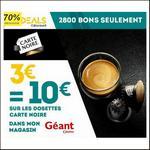 Bon Plan Cdiscount : 3€ = 10€ sur la toute les capsules Carte Noire - anti-crise.fr