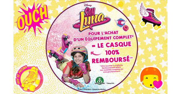 Offre de Remboursement Soy Luna : Casque de protection 100% Remboursé - anti-crise.fr