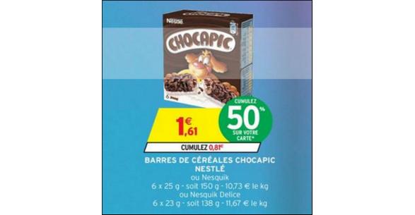 Bon Plan Barres Nesquik Delice chez Intermarché - anti-crise.fr
