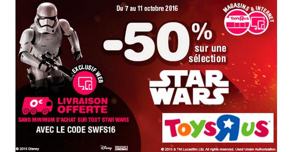 Bon Plan Toy's R Us : 50% sur une Sélection Star Wars - anti-crise.fr