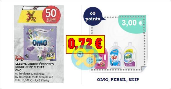 Bon Plan Omo : Lessive Liquide Ecodoses à 0,72€ chez Intermarché - anti-crise.fr