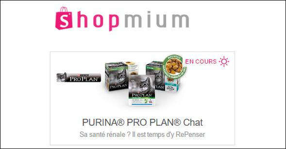 Offre de Remboursement Shopmium : 2 Offres Purina® Pro Plan® Chat - anti-crise.fr