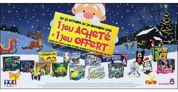 Offre de Remboursement Dujardin/TF1 GAmes : 1 Jeu Acheté = 1 Jeu Offert - anti-crise.fr