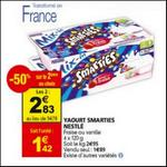 Bon Plan Yaourts Smarties de Nestlé chez Auchan - anti-crise.fr
