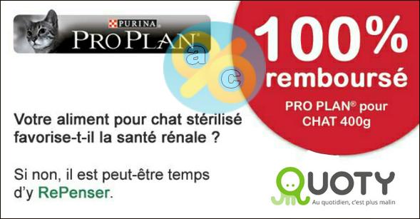Offre de Remboursement Quoty : Croquettes Pro Plan pour Chat 100% Remboursé - anti-crise.fr