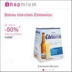 Offre de Remboursement Shopmium : Jusqu'à 50% sur Les Bières blanches Edelweiss - anti-crise.fr