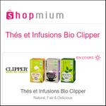 Offre de Remboursement Shopmium : Jusqu'à 40% sur Les Thés et Infusions Bio Clipper - anti-crise.fr