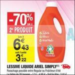 Bon Plan Lessive Ariel Simply chez Carrefour Market - anti-crise.fr