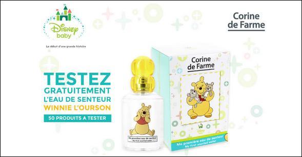 Test de Produit Conso Baby : Eau de senteur Winnie l'Ourson Corinne de Farme - anti-crise.fr