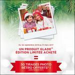 Bon Plan Glade : 1 produit Edition Limitée Acheté = 50 Tirages Photo Offerts - anti-crise.fr