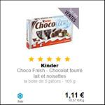 Bon Plan Kinder Choco Fresh à 0,31€ chez Intermarché - anti-crise.fr
