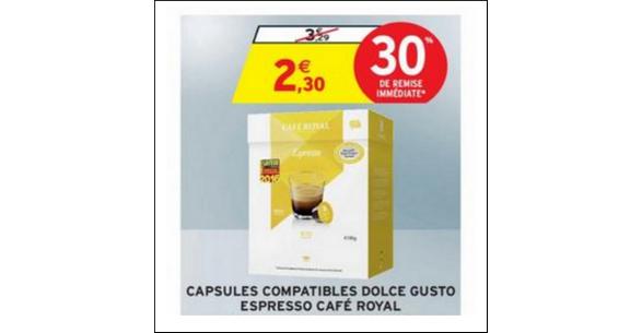 Bon Plan Capsules Café Royal pour Dolce Gusto chez Intermarché - anti-crise.fr