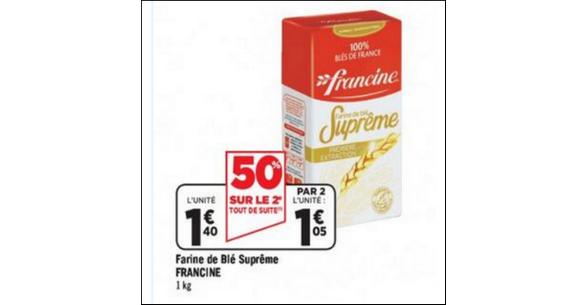 Bon Plan Farine Suprême Francine chez Géant Casino - anti-crise.fr