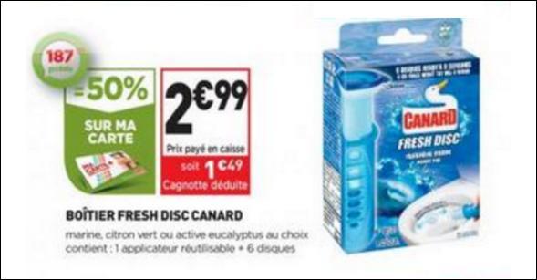 Bon Plan Boîtier Canard Fresh Disc chez Simply Market - anti-crise.fr