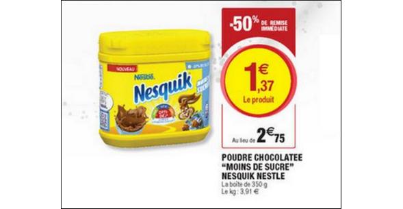 Bon Plan Poudre Nesquik Moins de Sucre chez Magasins U - anti-crise.fr