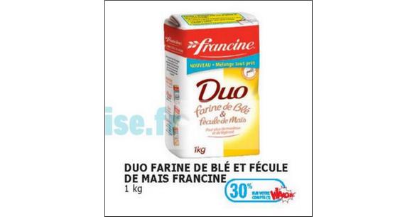 Bon Plan Farine Francine Duo chez Auchan - anti-crise.fr