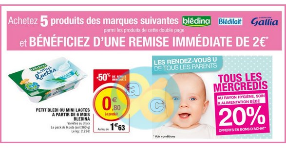 Bon Plan Blédina : 5 Mini Lactés chez U les mercredi 11 et 18 janvier - anti-crise.fr