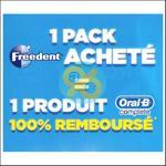 Offre de Remboursement Freedent / Oral-B : Votre Dentifrice 100% Remboursé - anti-crise.fr