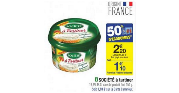 Bon Plan Société à Tartiner chez Carrefour - anti-crise.fr