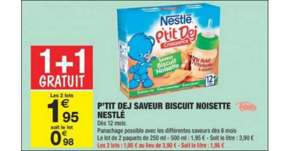 Bon Plan Nestlé P'tit Déj chez Carrefour Market - anti-crise.fr