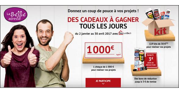 Instants Gagnants YouJustDo/La Belle Adresse : 1 chèque d'une valeur unitaire de 1 000€ à Gagner - anti-crise.fr