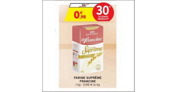 Bon Plan Farine Suprême Francine chez Intermarché - anti-crise.fr