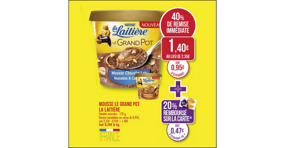 Bon Plan Le Grand Pot de Mousse La Laitière chez Match - anti-crise.fr