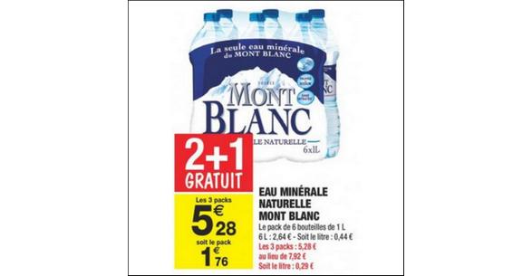 Bon Plan Eau Mont Blanc chez Carrefour Market - anti-crise.fr