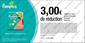 coupons reduction couches pampers