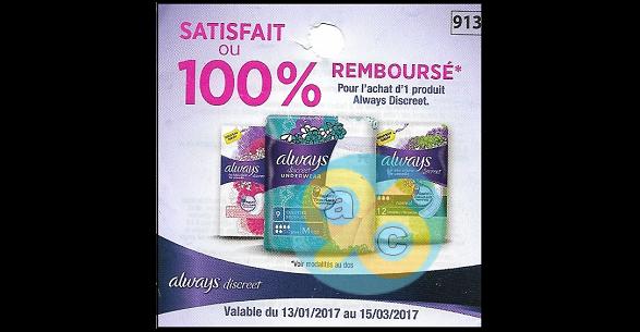 Offre de Remboursement Always : un Produit Discreet Remboursé - anti-crise.fr
