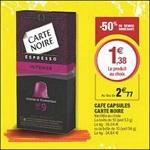 Bon Plan Capsules Carte Noire pour Nespresso chez Magasins U - anti-crise.fr