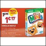 Bon Plan Céréales Cini Minis chez Intermarché - anti-crise.fr