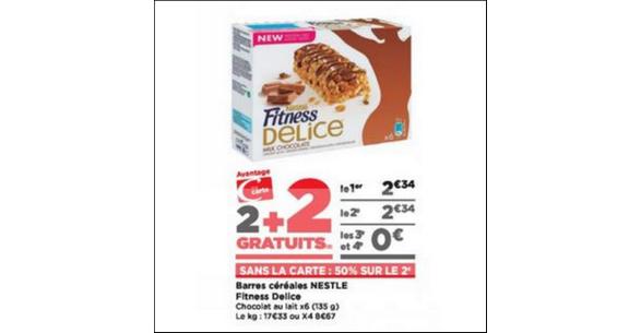 Bon Plan Barres de Céréales Fitness Delice chez Casino - anti-crise.fr