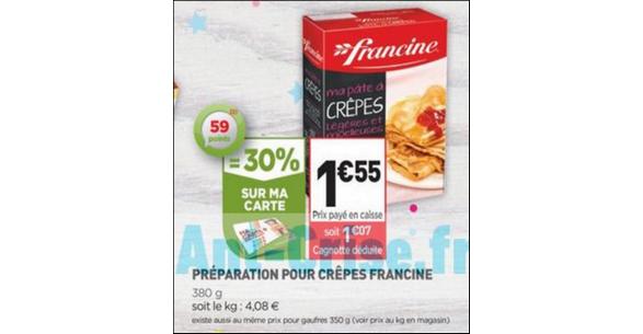 Bon Plan Ma Pâte à Crêpes Francine chez Simply Market - anti-crise.fr