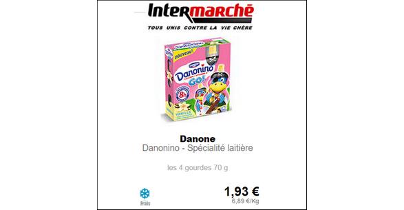Bon Plan Danonino Go! à la Vanille chez Intermarché - anti-crise.fr