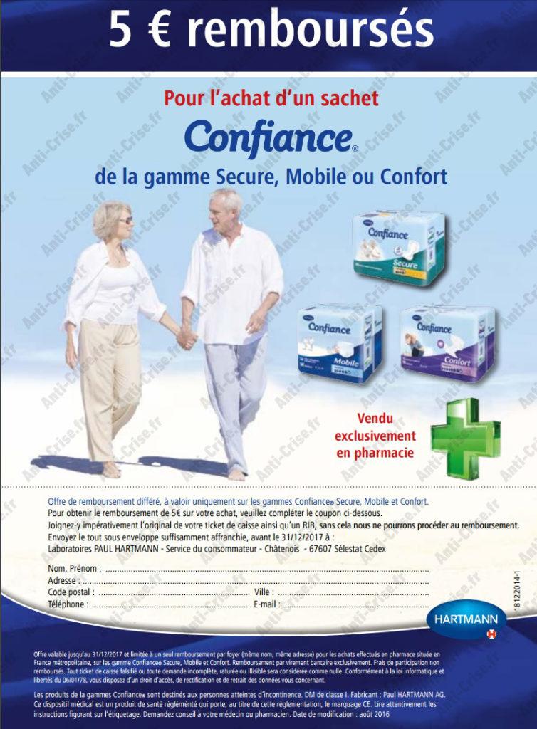 Offre de Remboursement Protection Confiance : 5€ remboursés - anti-crise.fr
